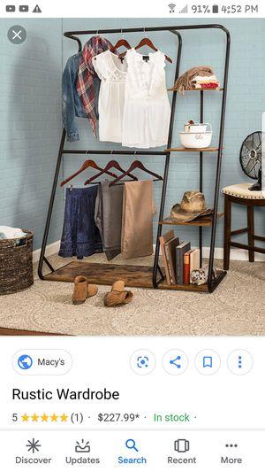 Rustic closet organizer for Sale in Irondale, AL