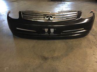 Infiniti G35 Front Bumper With Grills And Corner Lights And Assemblies Oem Fits Year 2003-2005 for Sale in Bellflower,  CA