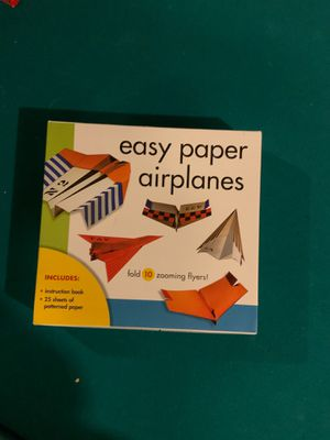 Easy paper airplane kit for Sale in Bath, ME