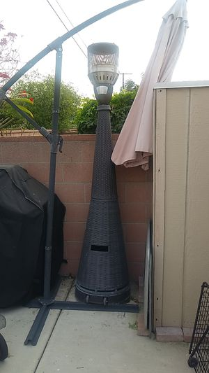 out side heater complete used 4 times green knit with rollers for Sale in South El Monte, CA