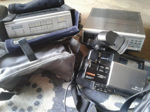 Rca video camera and case VCR and case and TV receiver for Sale in Modesto, CA