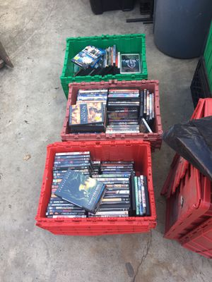 Over 250 DVDs movies all different titles take all for $100 for Sale in Hayward, CA