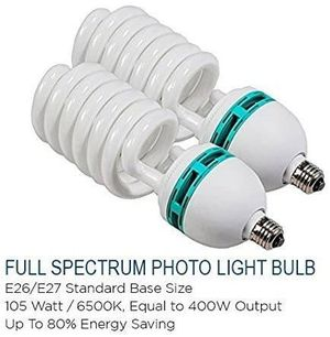 105 Watt 6500k Photo Studio Light Bulbs x2 for Sale in Inglewood, CA