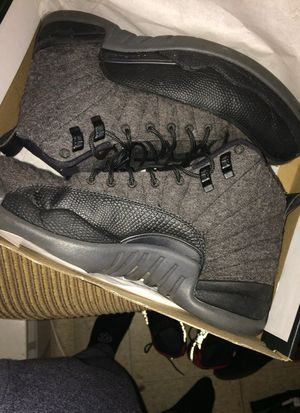 Jordan 12 grey wool for Sale in Boston, MA