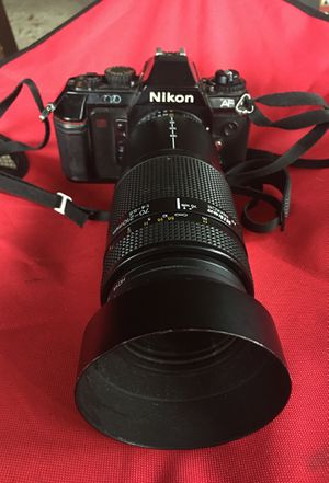 Nikon film camera with lense for Sale in Pasadena, TX