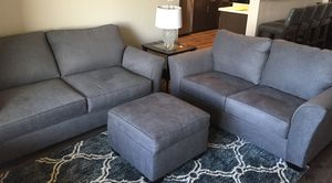 Grey Sleeper Sofa Set With Ottoman reduced today $1000 for Sale in American Canyon, CA