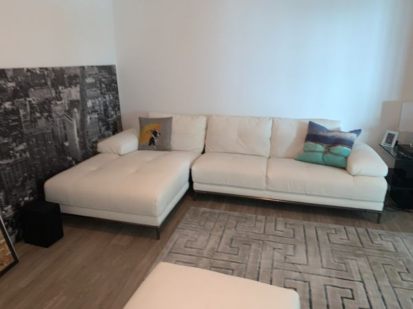 White Leather Couch - AMAZING CONDITION
