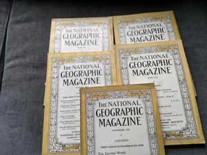 1925 national geographic magazines for Sale in Sunbury, OH