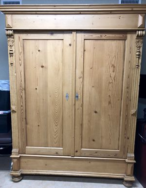 Antique Restored Pine Armoire for Sale in Coral Gables, FL