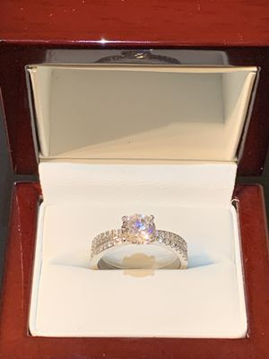 (4th of July deals) Beautiful 14k Solid White Gold Simulated Diamond Engagment Ring for Sale in Glendale, CA