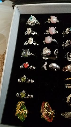 Silver gold filled rings in stainless steel for Sale in Piscataway Township, NJ