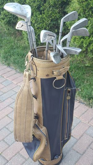 Full set of Wilson 1200 irons with Delta titanium woods for Sale in Morton Grove, IL