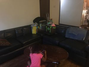 Used Dark Blue sectional still in good shape for Sale in Peoria, IL