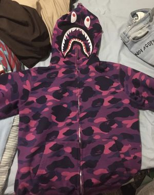 Purple Bape Hoodie for Sale in Harper Woods, MI