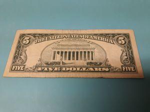 $5 dollar bill. for Sale in Adelphi, MD