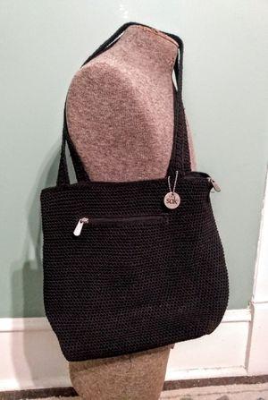 THE SAK Classic Black Crochet Hobo/ Shoulder Bag/ Tote/ Purse for Sale in Union Springs, AL