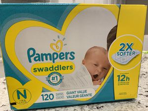 New Pampers Swaddlers disposable diapers Newborn 120ct SUMMERLIN for Sale in Las Vegas, NV