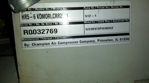 Komori air compressor for Sale in Happy Valley, OR