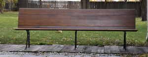 Railroad Bench Antique Cast Iron and Maple for Sale in Crestwood, IL