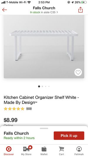 3 kitchen cabinet organizer shelf for Sale in Alexandria, VA