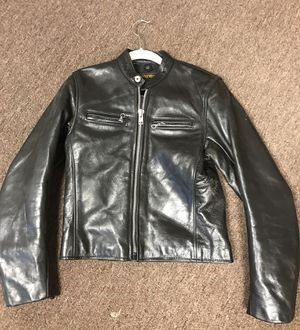 Woman's motorcycle leather jacket-size 4 for Sale in Denver, CO