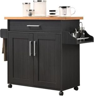 Kitchen Island with Spice Rack, Towel Rack & Drawer for Sale in Los Angeles, CA