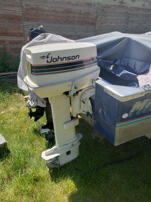 Johnson 25hp electric start w controls for Sale in Billings, MT