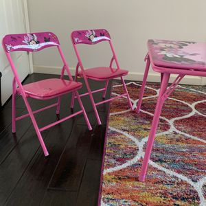 Minnie Mouse Kids Table With Chairs for Sale in Torrance, CA