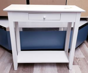 New 1 Drawer White Console Entryway Hall Sofa Table for Sale in Burlington, NJ