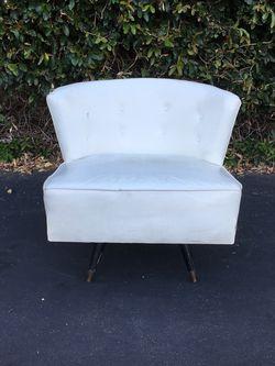 Vintage Mid Century Barrel Back Swiveling Slipper Chair for Sale in Pomona,  CA