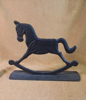 Vintage Cast Iron Rocking Horse Doorstop for Sale in Center Point, AL