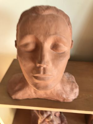 Clay ladies head bust for Sale in Alexandria, VA