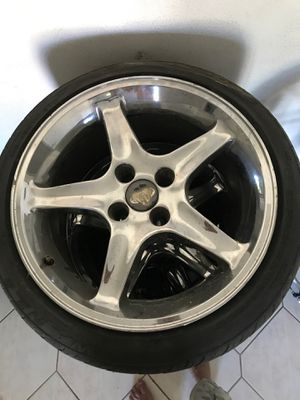 2-17 inch n 2-18 inch 4 lugs Ford Mustang rims for Sale in Los Angeles, CA