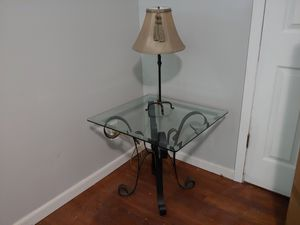 Iron and glass table with matching piece for foyer for Sale in Decatur, GA