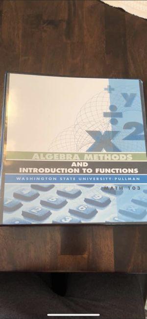 Algebra methods book for Sale in Kennewick, WA