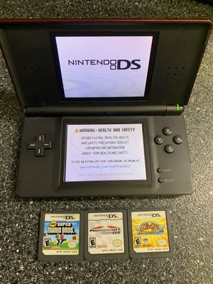 Nintendo Ds Lite With 3 Games and Charger for Sale in Lakewood, OH