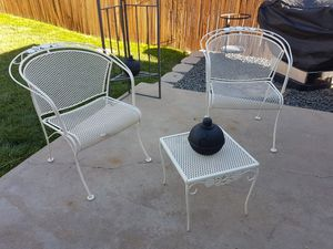 Outdoor wrought iron patio conversational set for Sale in Aurora, CO
