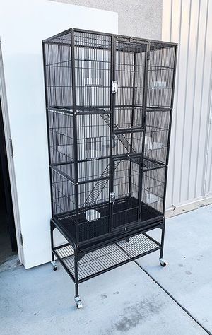 """(New in box) $110 Large 69"""" Tall Bird Parrot Cage Storey Ladder Aviary Flight w/ Wheels for Sale in Downey, CA"""