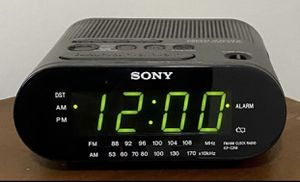 Sony Dream Machine Model ICF-C218 Alarm Clock AM FM Radio Time Set 12 Hour Display for Sale in Chapel Hill, NC