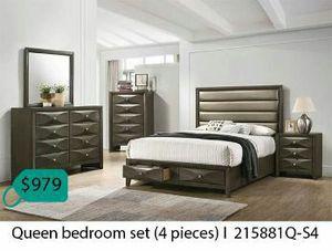 Queen bedroom set 4 pieces for Sale in Diamond Bar, CA