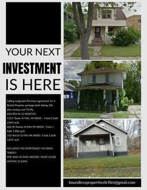 3 Investment Properties for Sale in Flint, MI