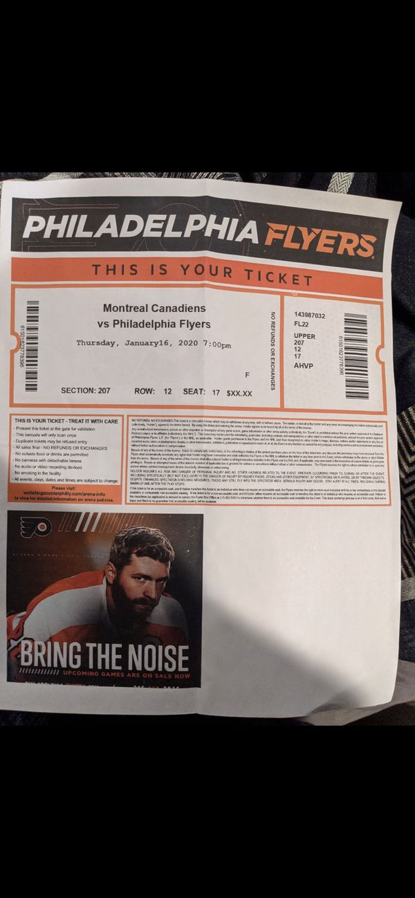 Flyers tickets