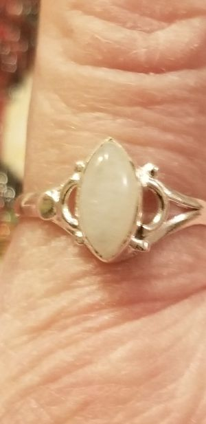 Solid 925 silver natural moonstone ring. Size 7 for Sale in Salt Lake City, UT