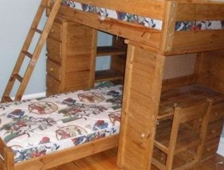 Sleep And Study Twin Loft Bed With Built In Desk And Storage Drawers. Mattress And Chair Not Included for Sale in San Diego,  CA