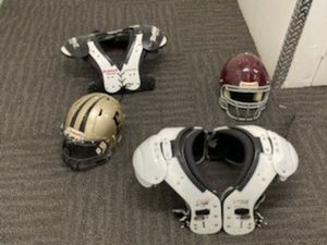 Football pads and helmet for Sale in Highland, CA