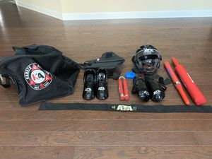 Karate sparring gear kit with duffle bag for Sale in Cumming, GA