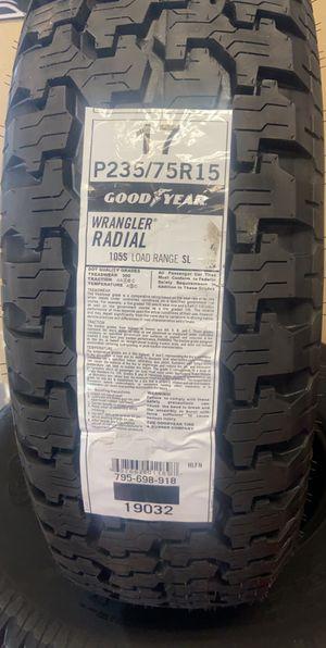 Goodyear Wrangler P235-75R15 for Sale in Fort McDowell, AZ