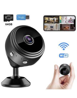 WiFi Spy Camera Mini Wireless Hidden Camera Small Security Surveillance Cameras with 64GB SD Card for Sale in Corona, CA