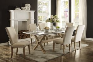 🚚Luella Weathered Oak/Gray Zinc Dining Set by Homelegance for Sale in Jessup, MD