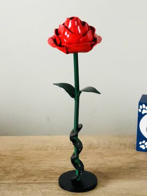 Metal rose for Sale in Mount Gilead, OH